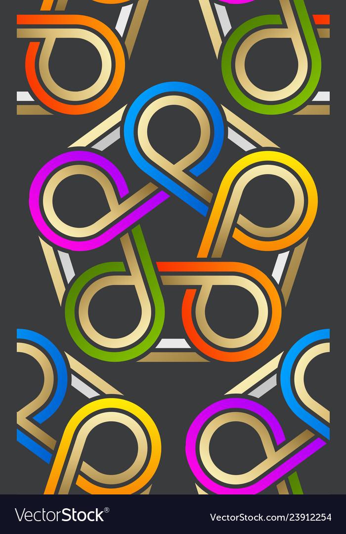 Pattern stylish abstract pattern lines swirl