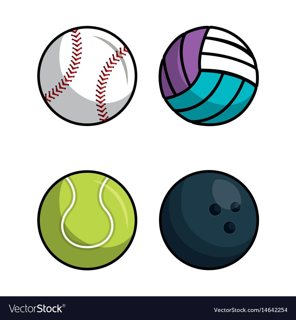 Sport balls isolated icon