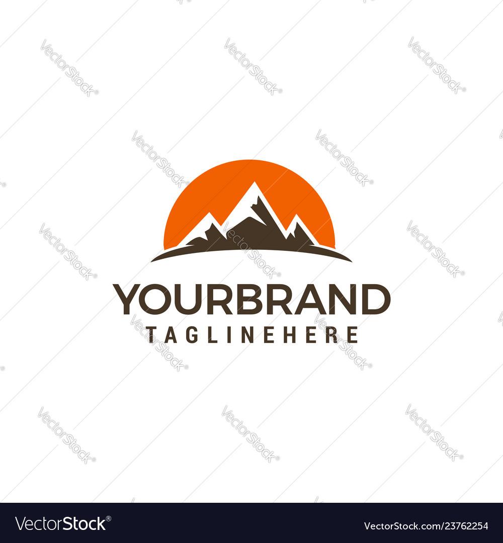 Tourism travel logo design template