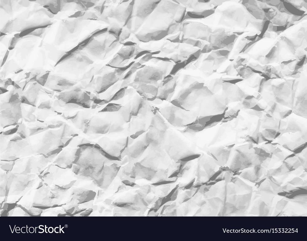 Wrinkled white horizontal paper