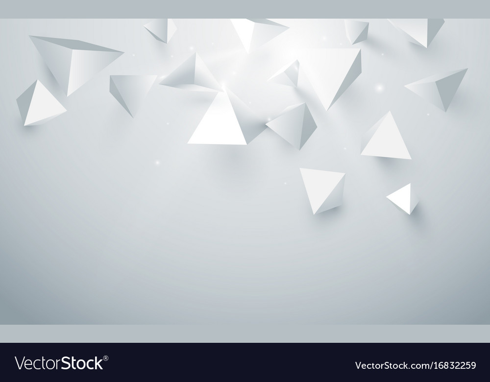 Abstract white 3d pyramids background
