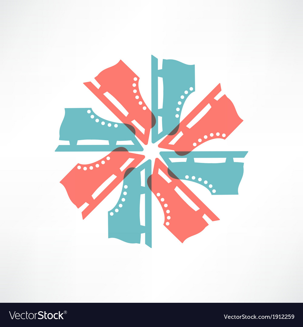Colored circle of skates vector image