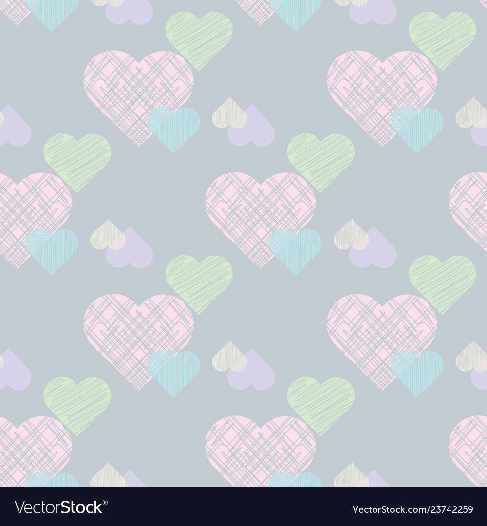 Delicate valentines print pastel seamless pattern