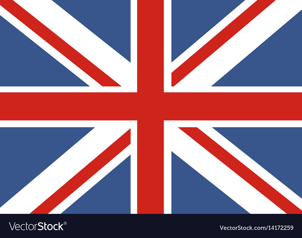 flag of great britain official uk flag of the vector image rh vectorstock com british flag vector eps british flag vector art free