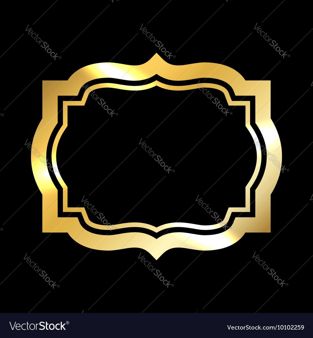 Gold frame simple black