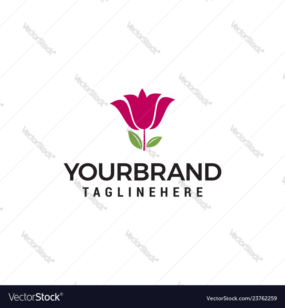 Lilly flower logo design template