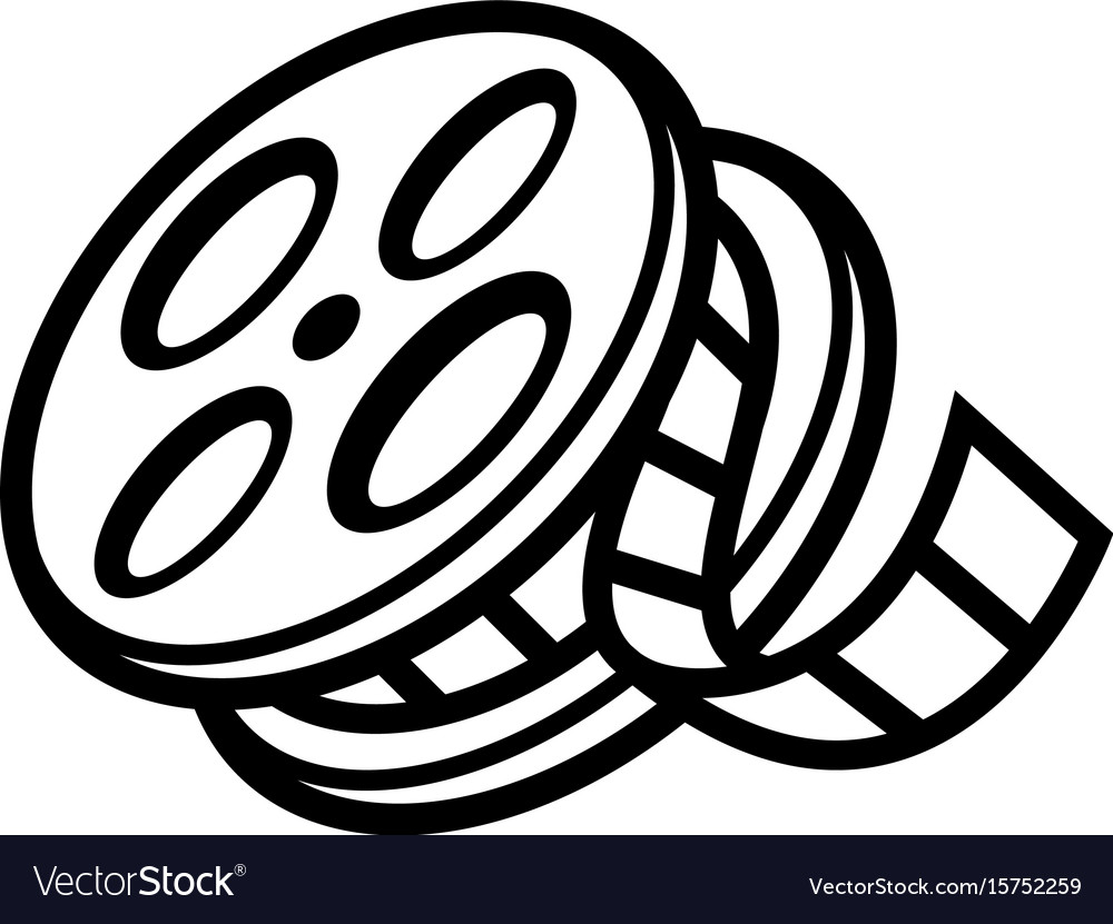 Movie Theater Cinema Film Reel Unspooling Vector Image