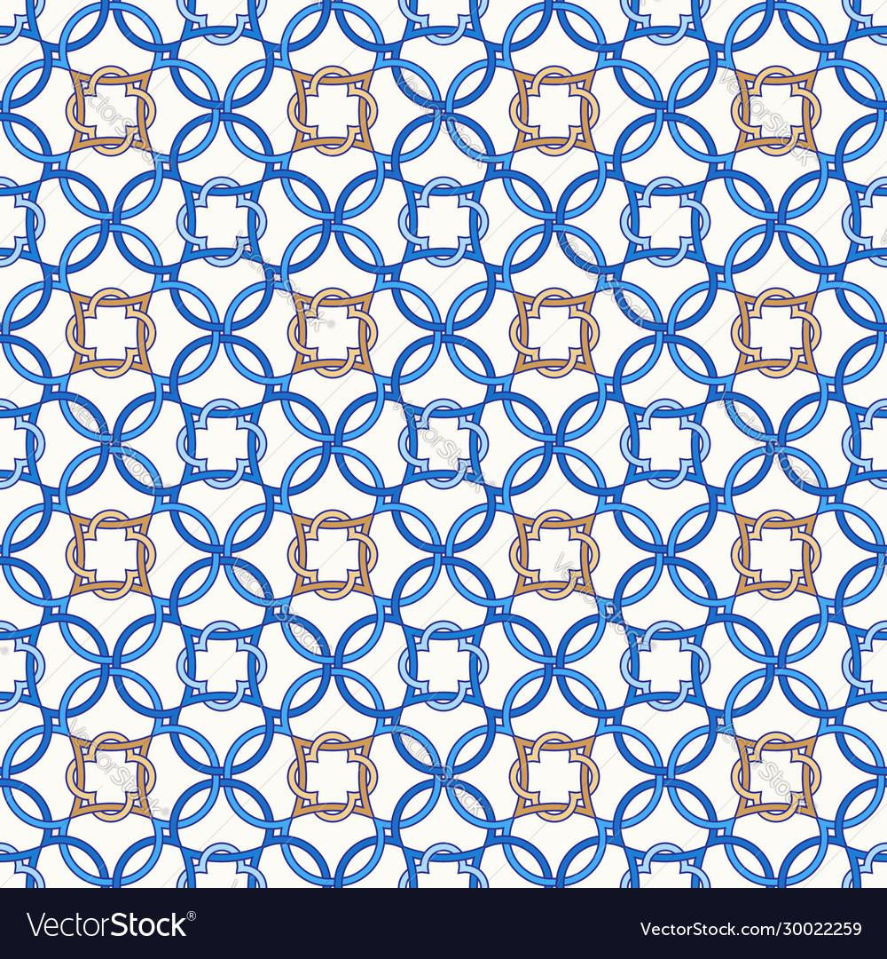 Portuguese tiles quatrefoil pattern
