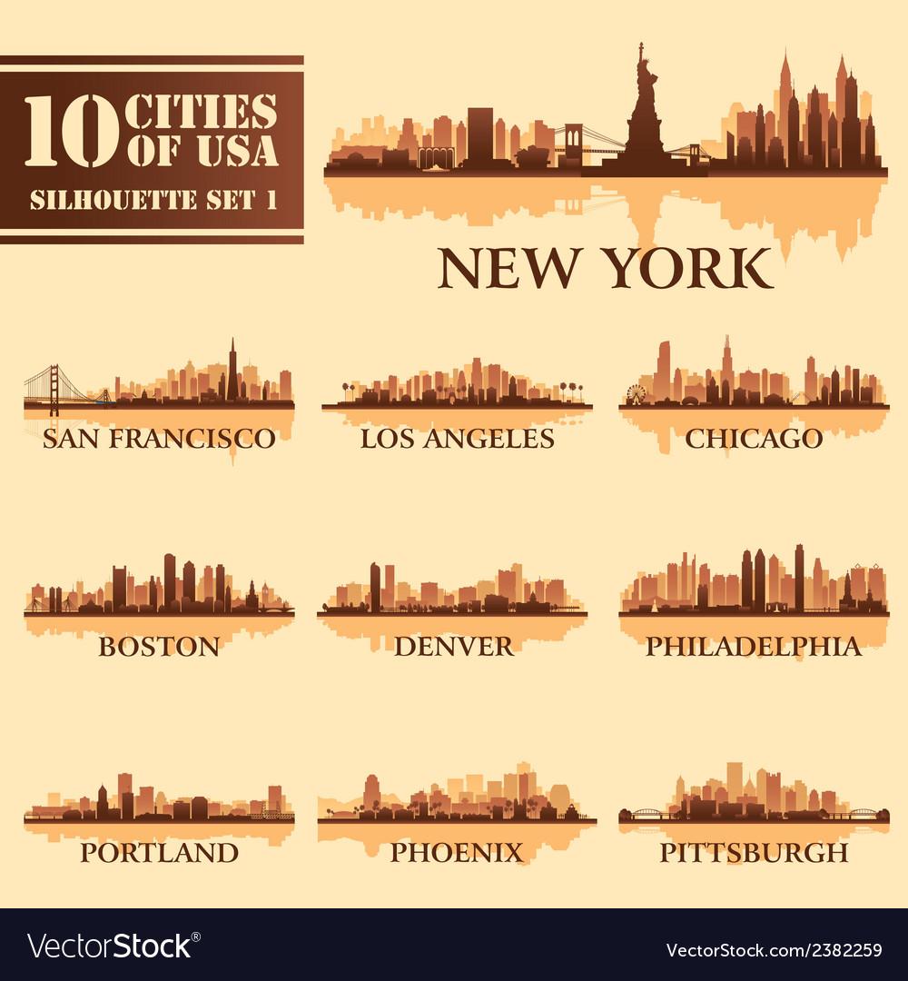 Set USA City 1 brown