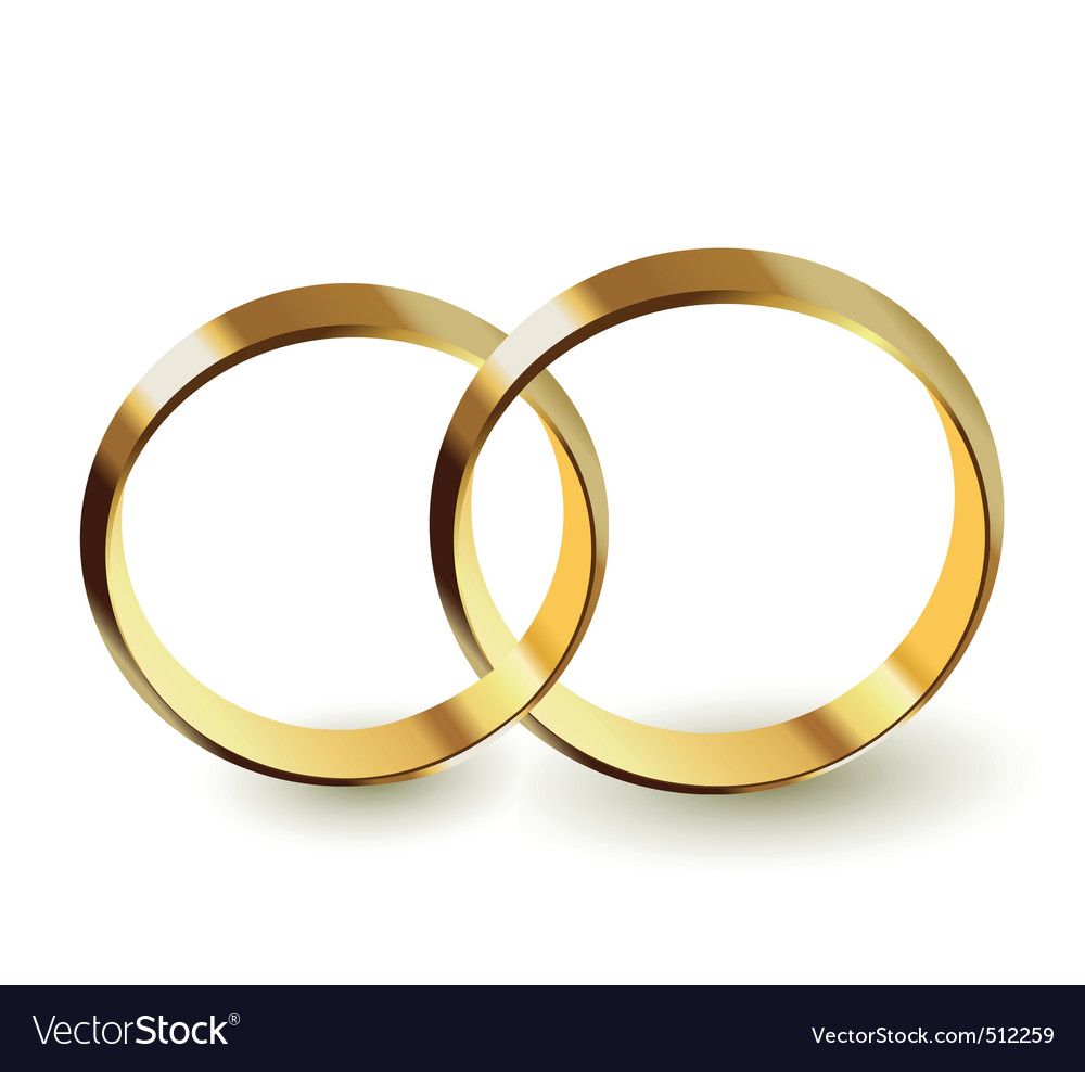 Wedding rings Royalty Free Vector Image VectorStock