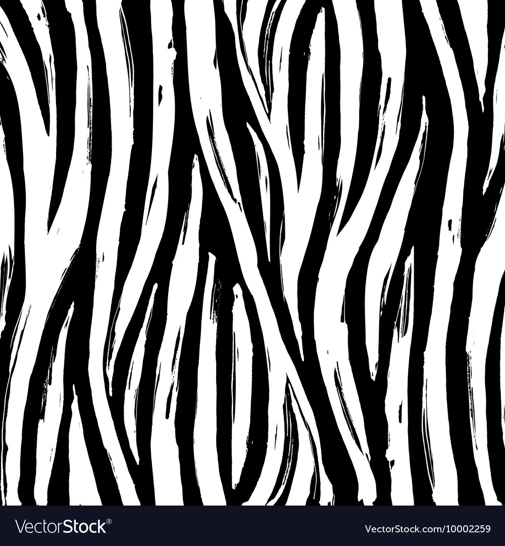 zebra print background pattern black and white vector image