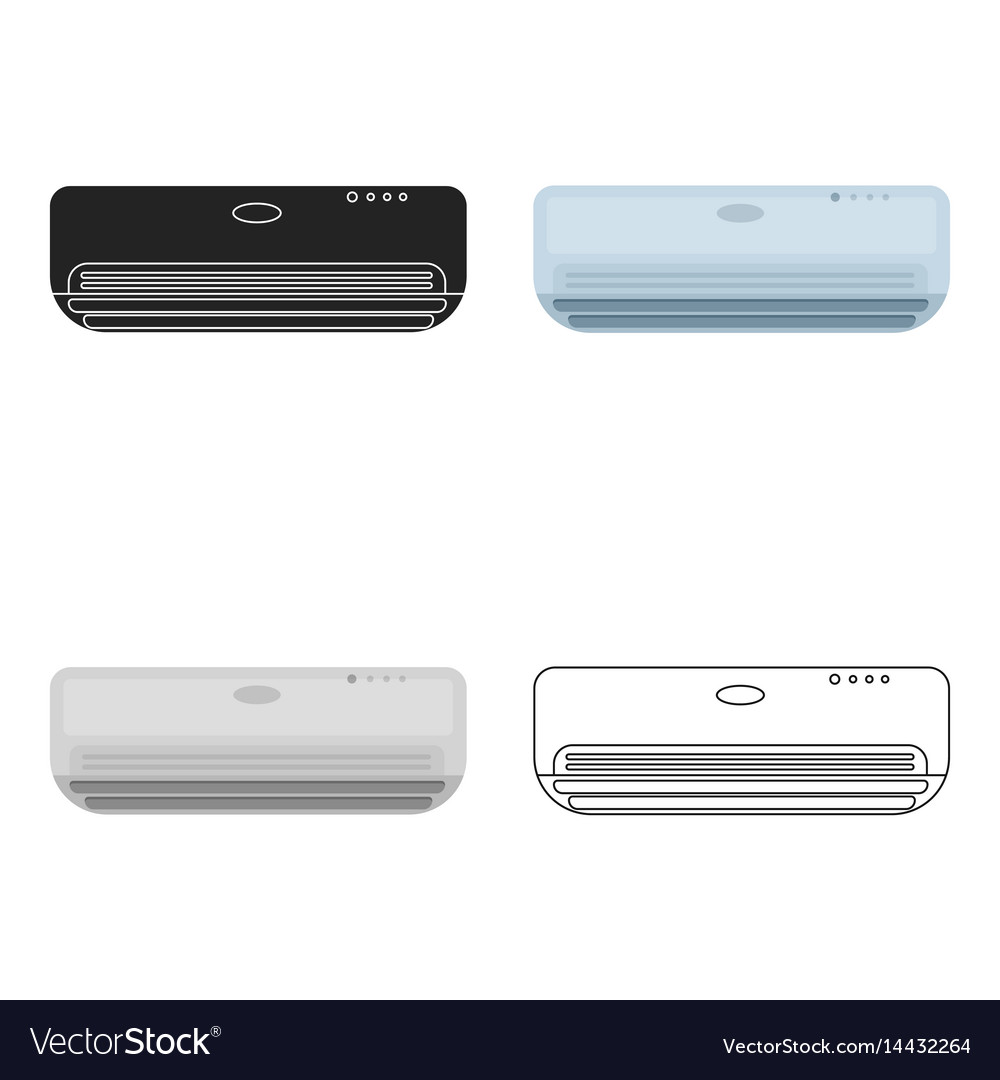 Air conditioner icon in cartoon style isolated on