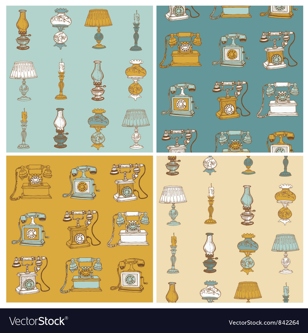 Backgrounds with Vintage Telephone