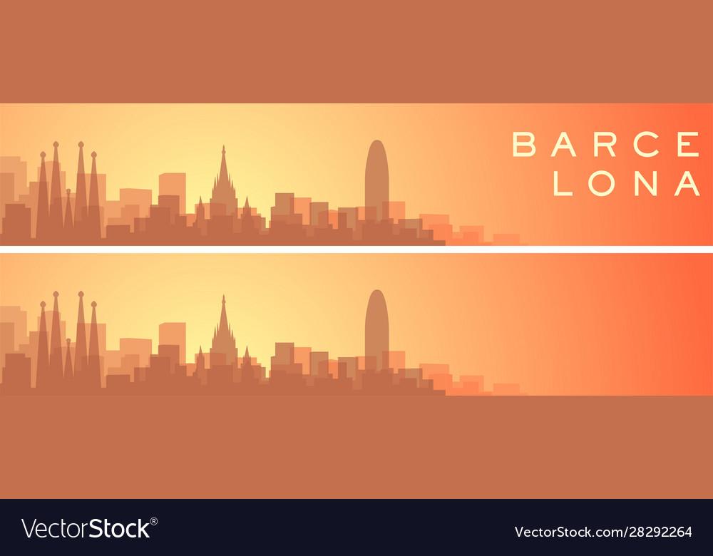 Barcelona beautiful skyline scenery banner