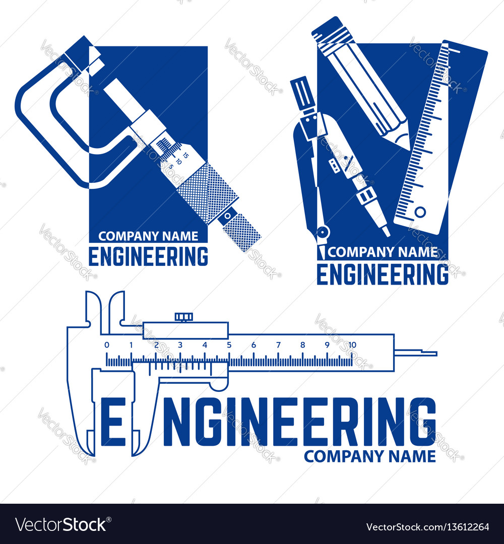 Engineering company logo templates