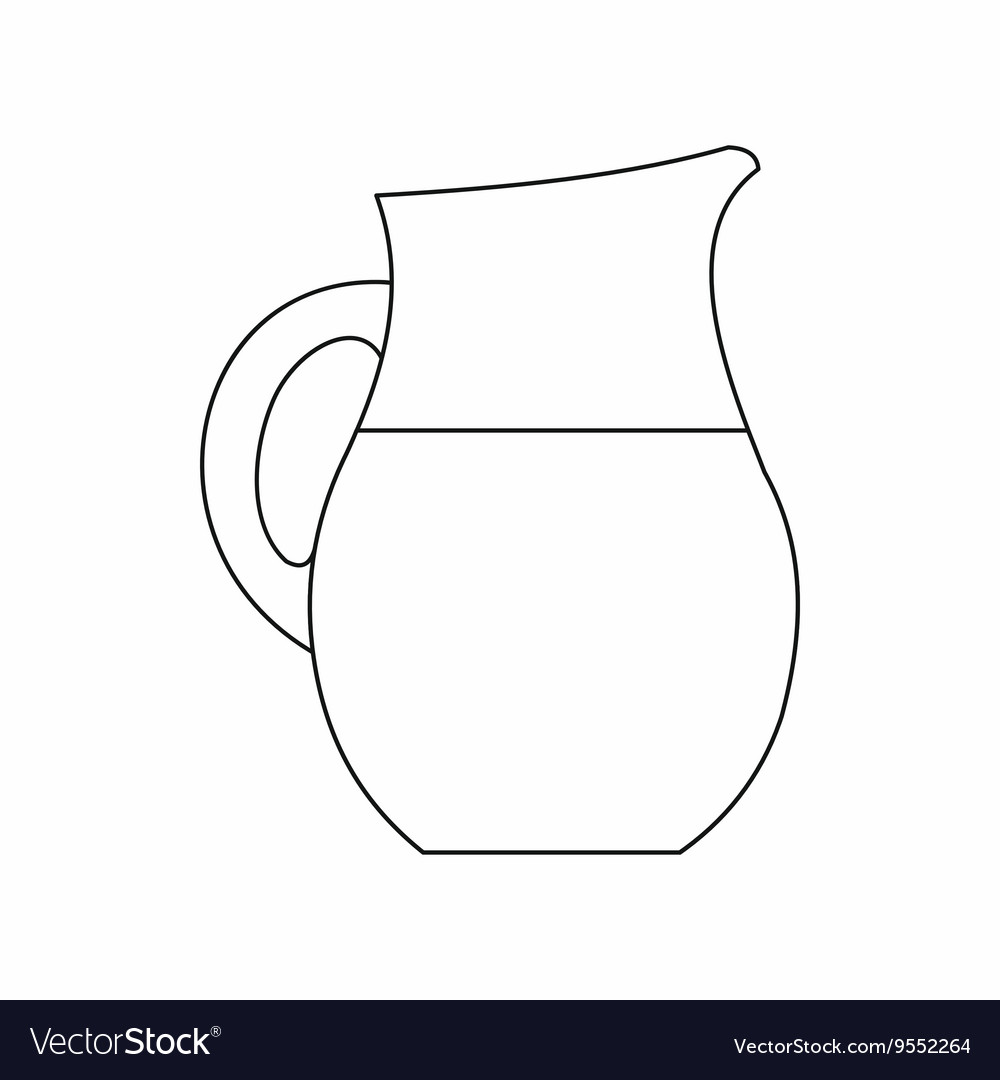 pitcher of milk icon outline style royalty free vector image