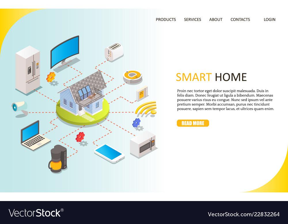 Smart home landing page website template