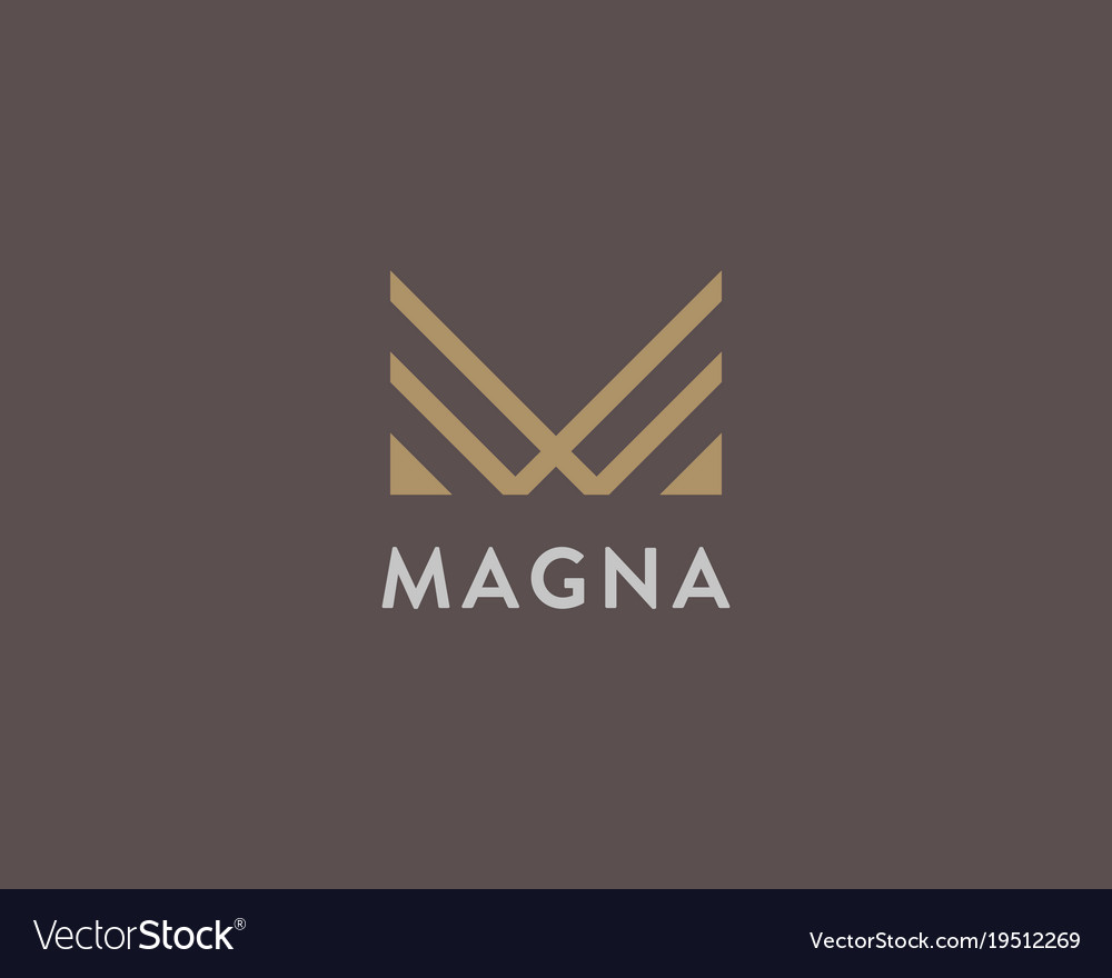 M Logo Design Abstract letter m logo...