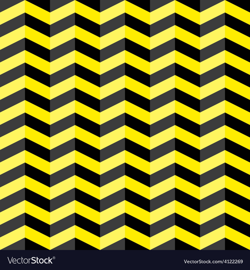 Black and yellow chevron seamless pattern