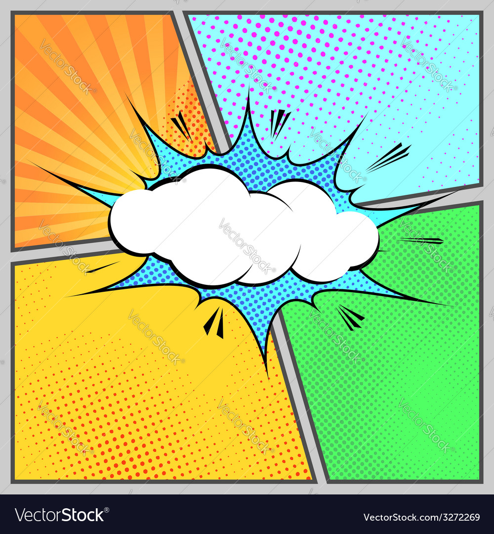 comic pop art humorous page style template vector image