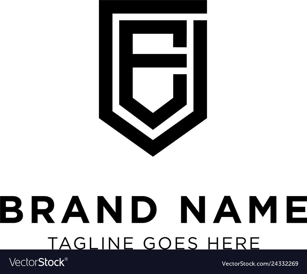 Initial e logo design