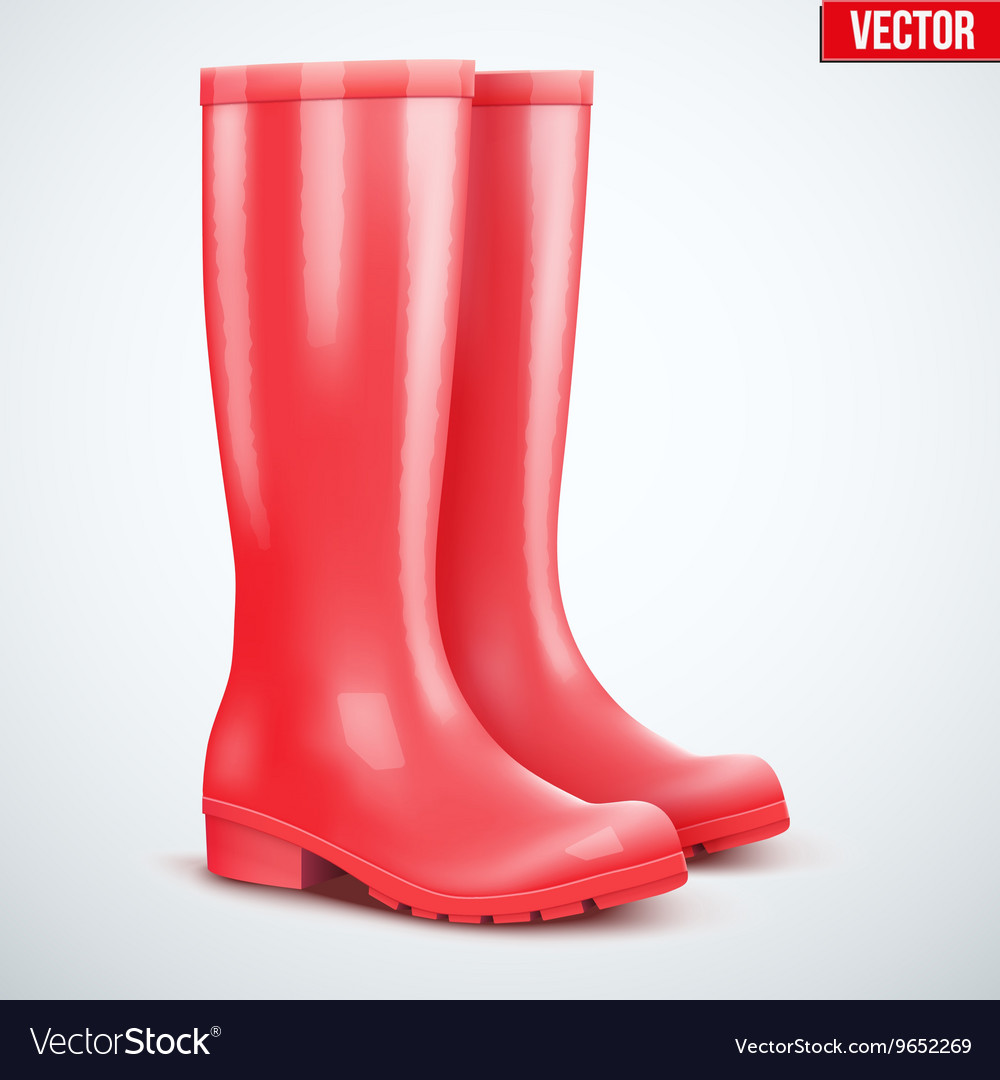 Pair of red rain boots