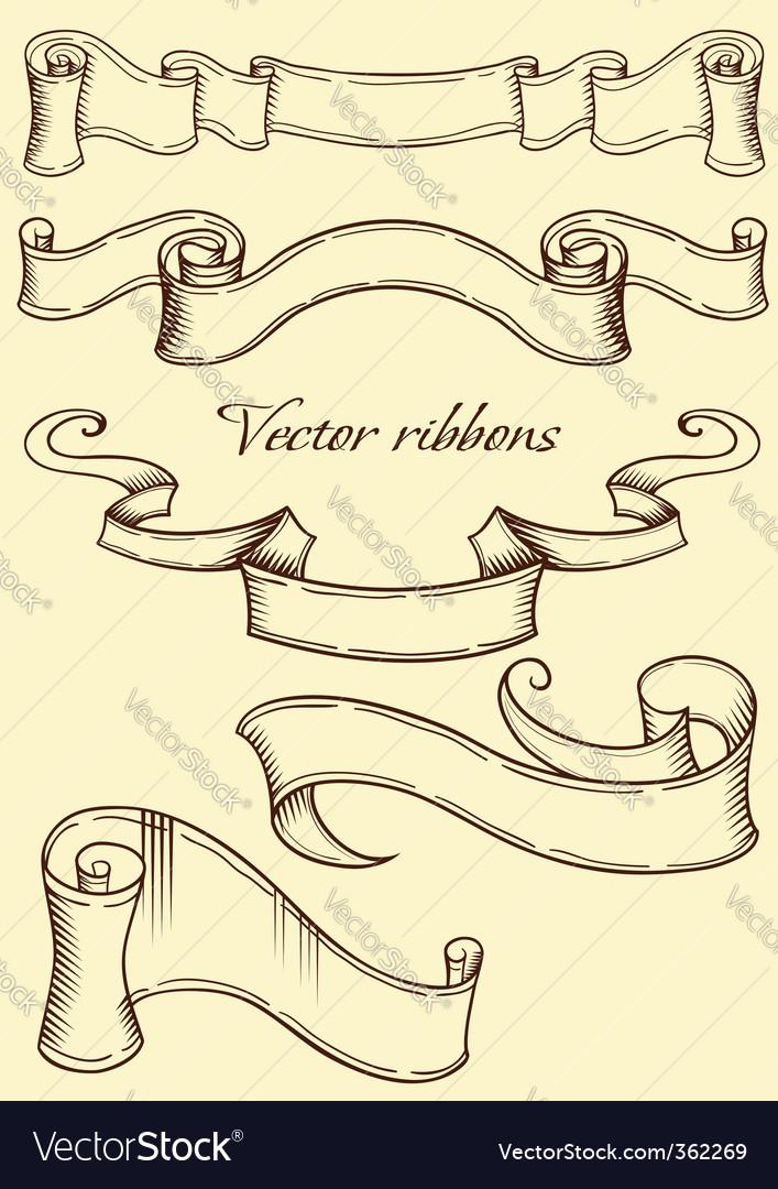 Retro style ribbon