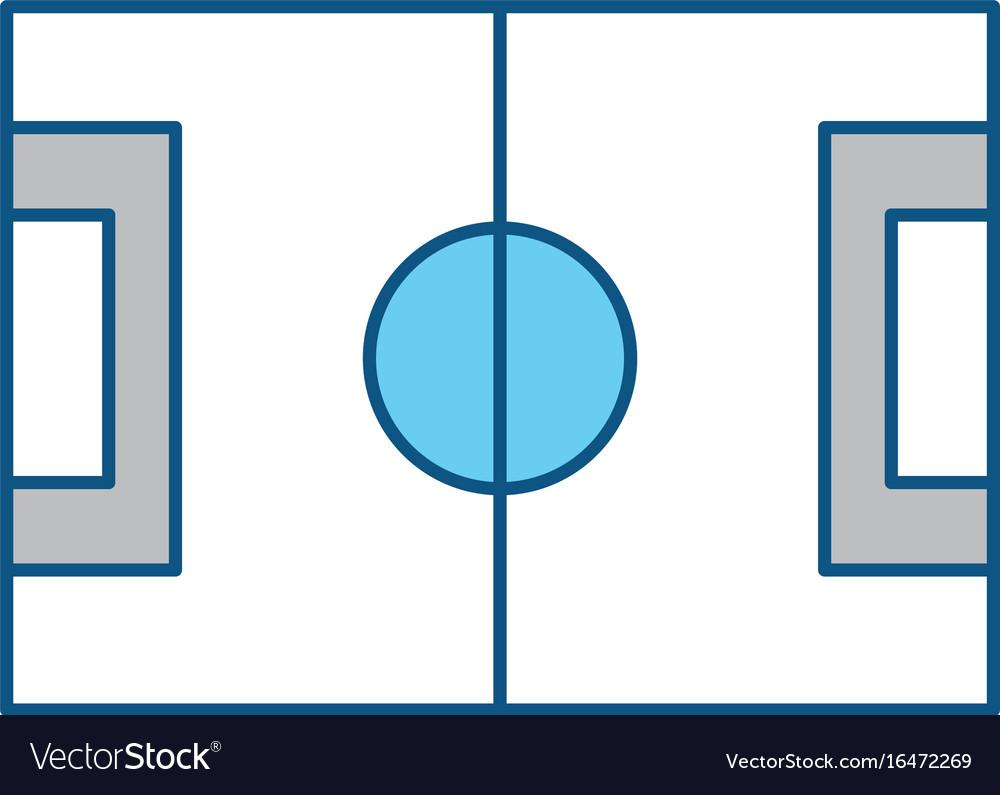 Soccer Field Symbol Royalty Free Vector Image Vectorstock