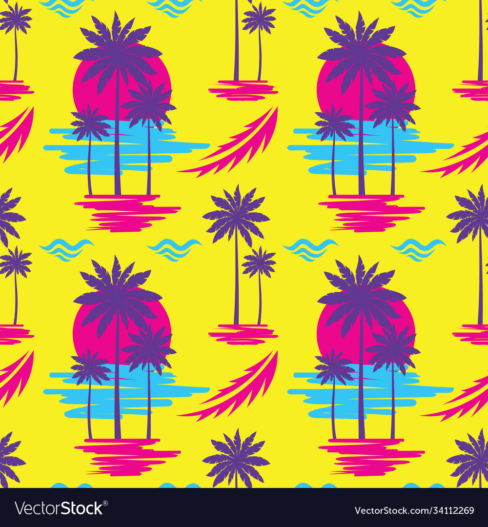 Tropical summer vacation - decorative banner