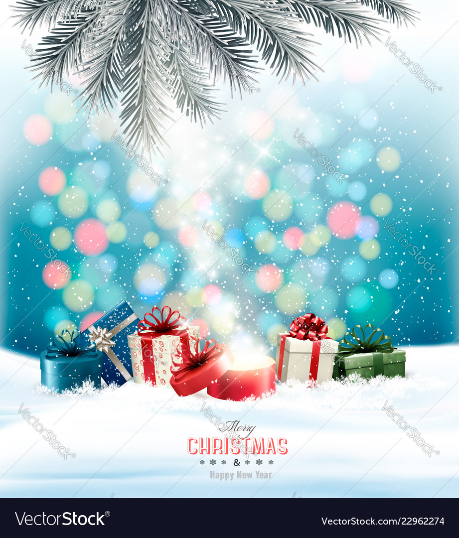 Christmas holiday background with colorful