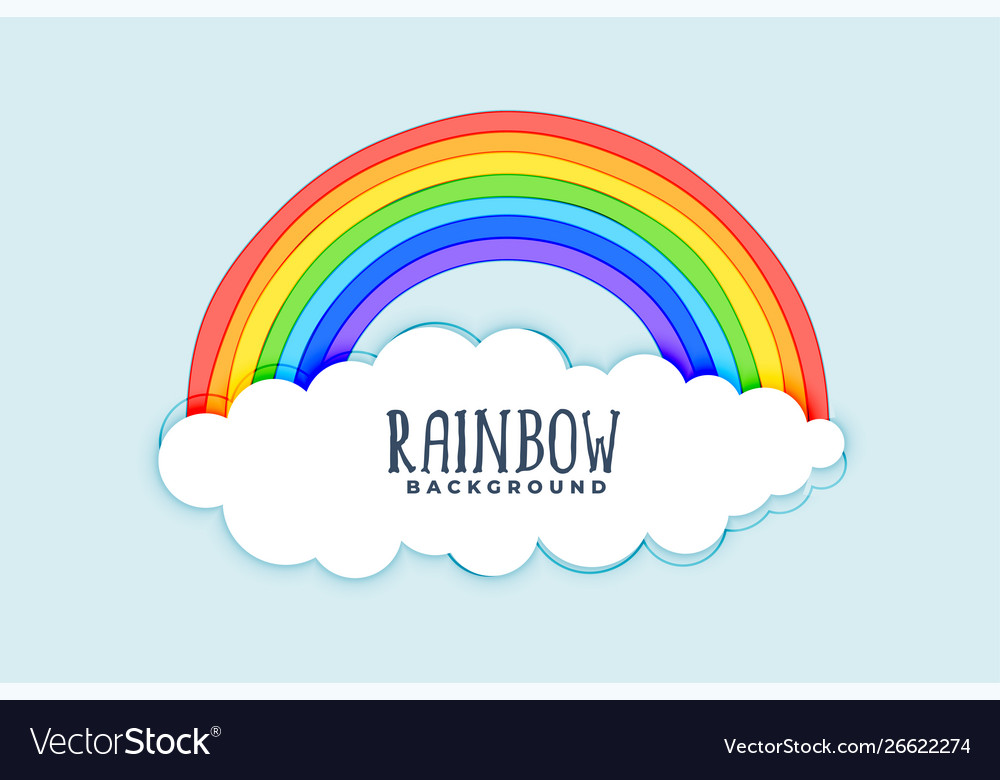 Clouds and rainbow background design