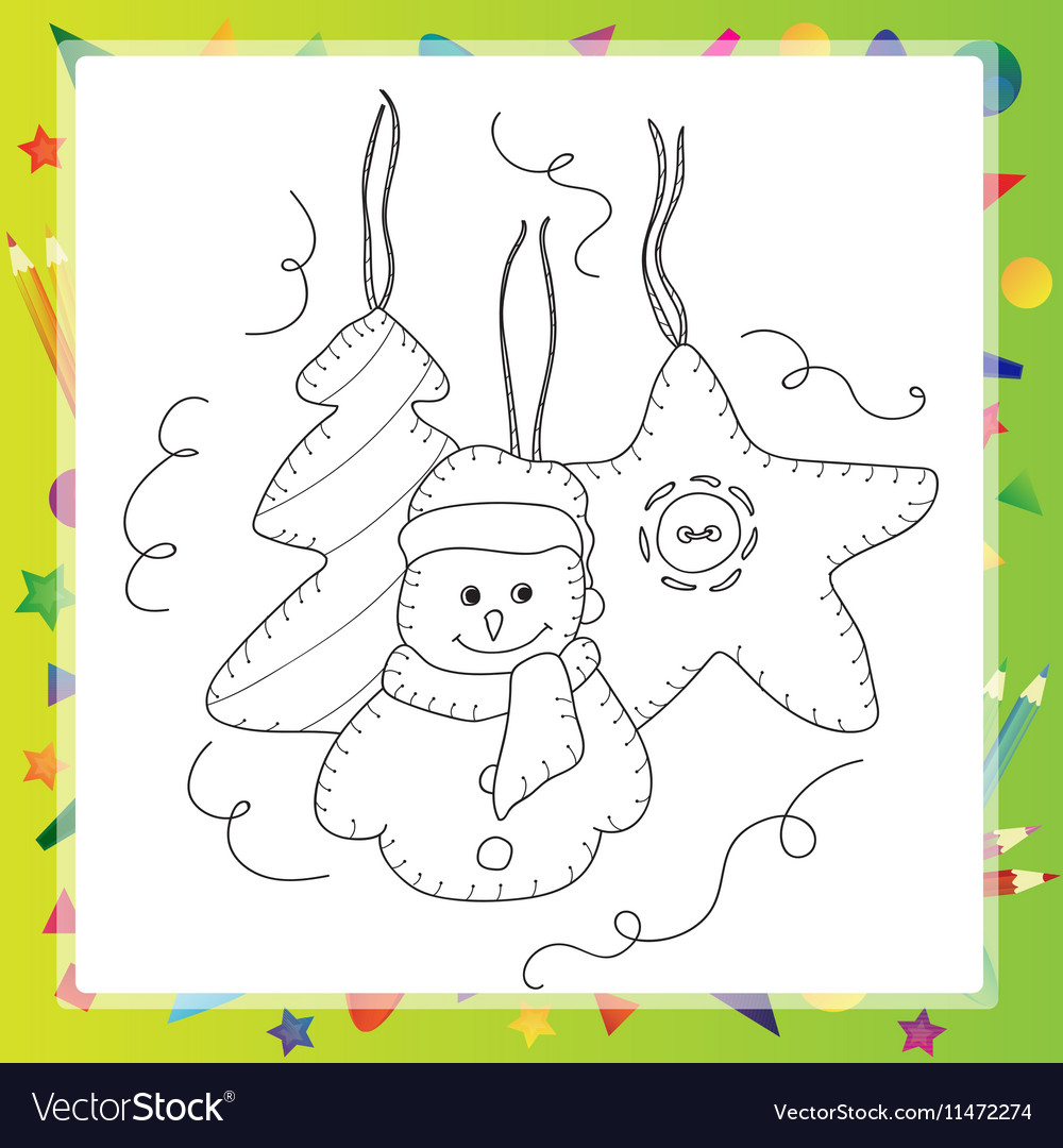 Coloring book or page card