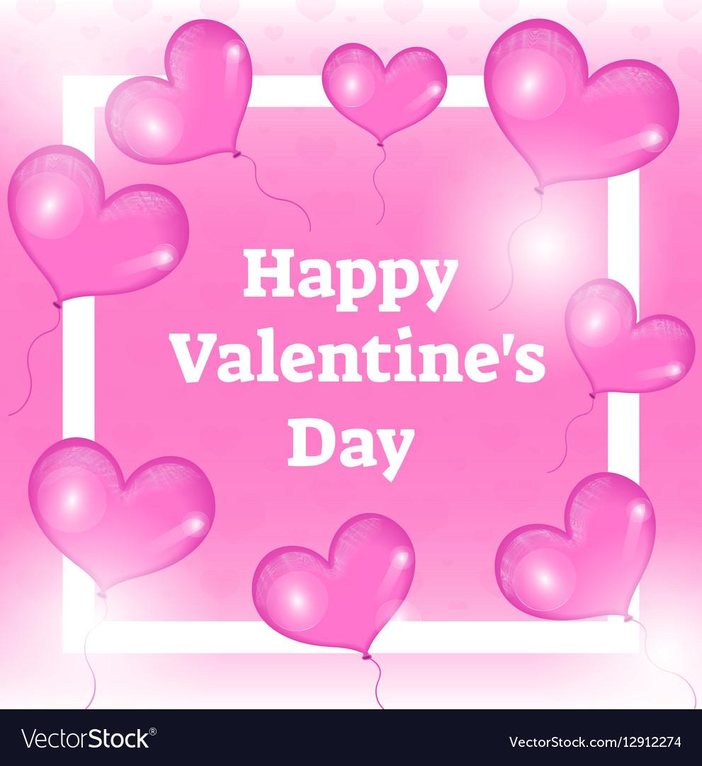Happy Valentines day card template invitation