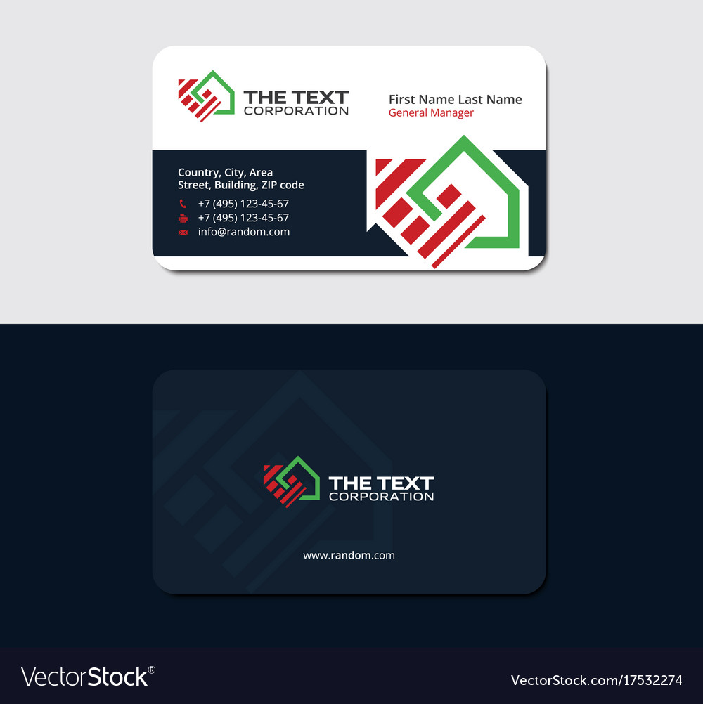 Home improvement business card design template vector image reheart Image collections