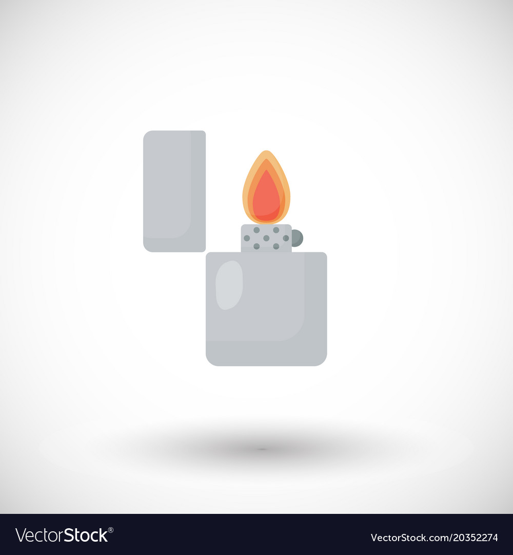 Open lighter flat icon