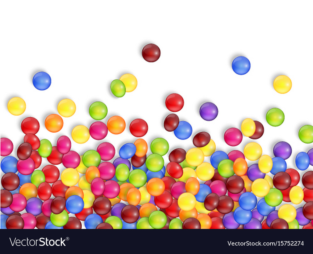 Sweets of candies with a white background vector image