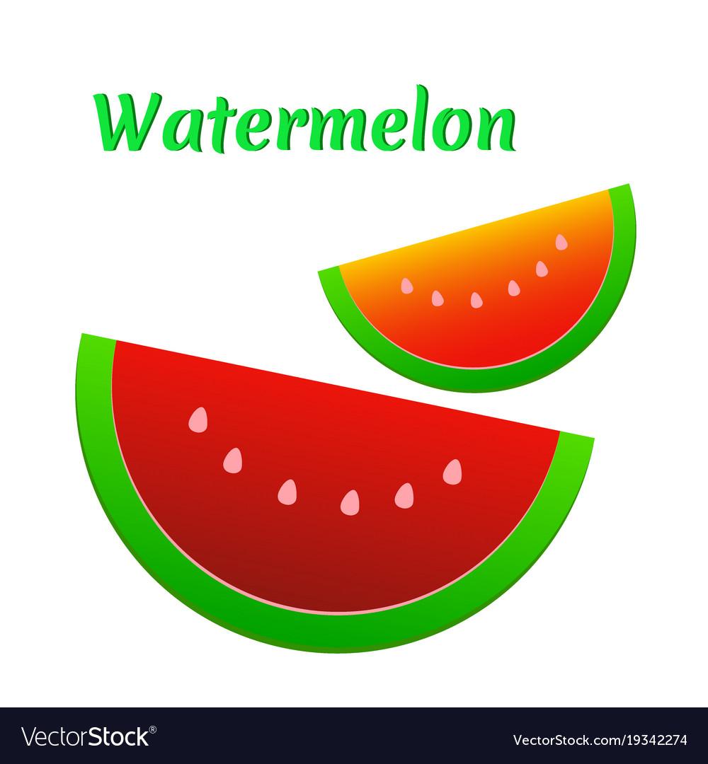 Watermelon icon cute red watermelon slide