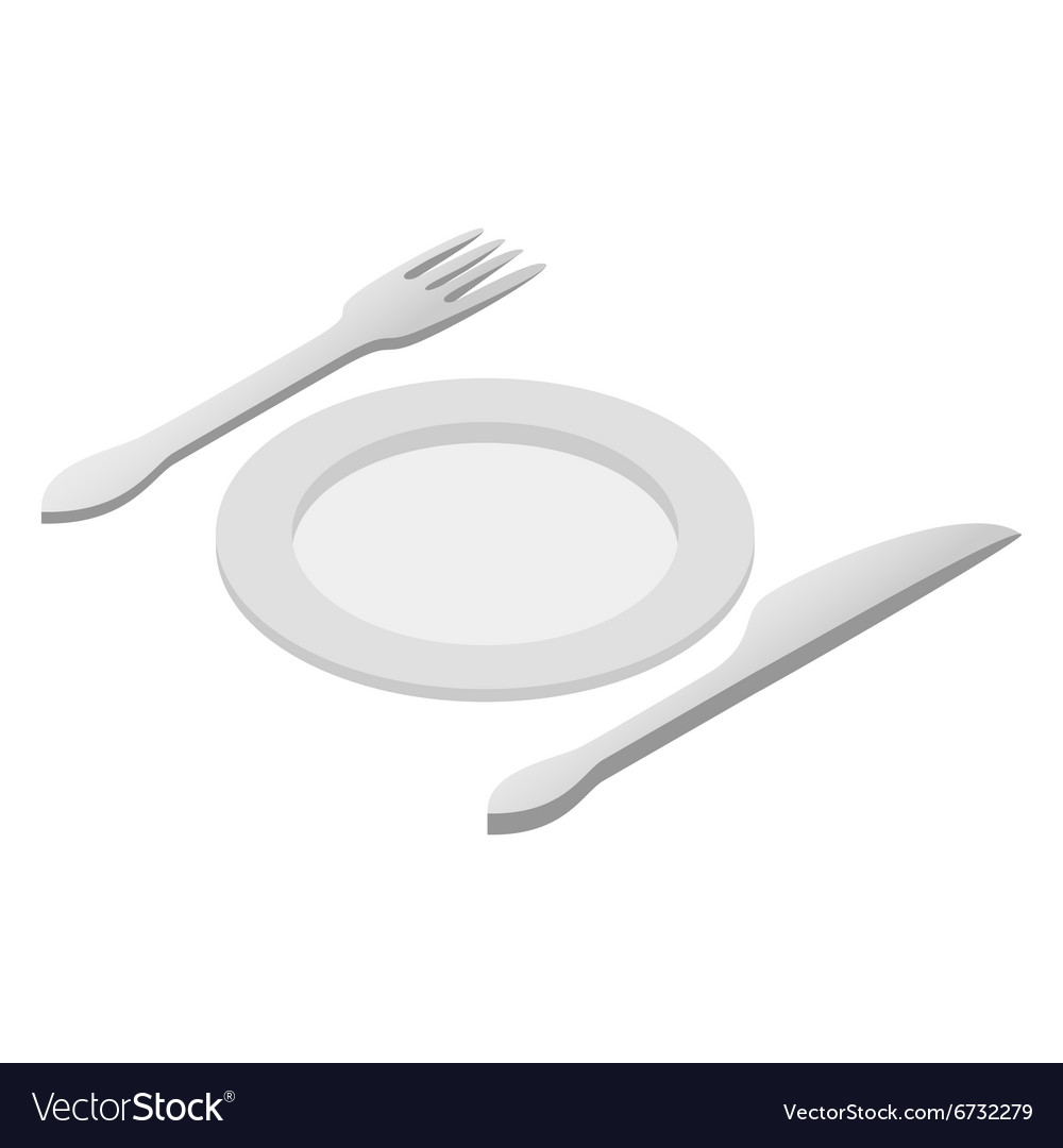 Cutlery isometric 3d icon