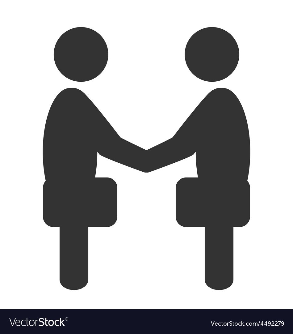 Greeting etiquette business situation icon vector image m4hsunfo Gallery