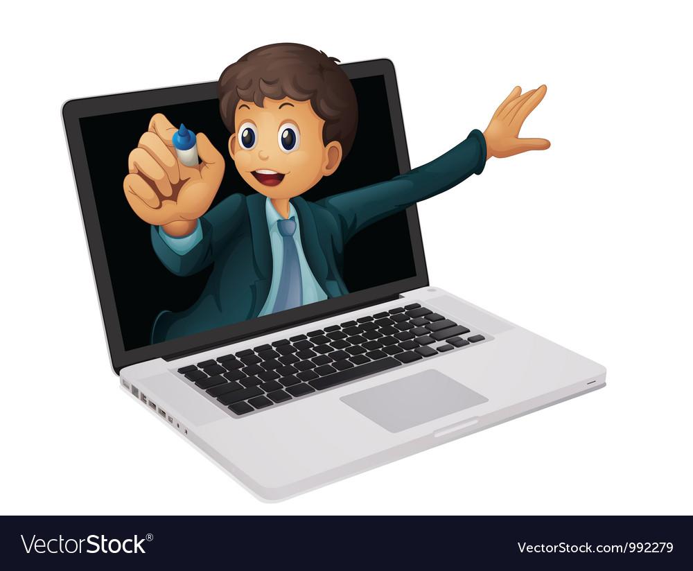 Laptop businessman