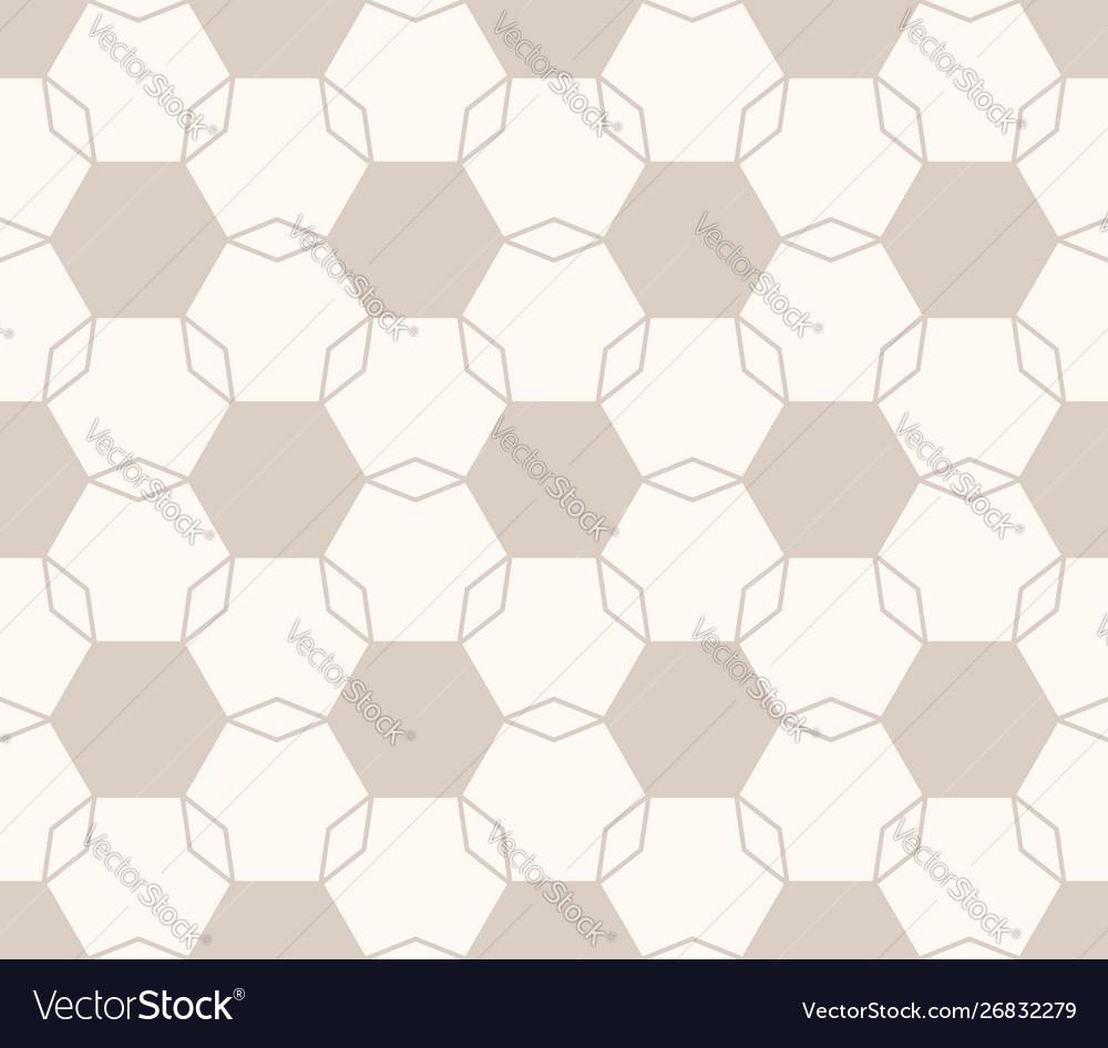 Minimal geometric floral seamless pattern light