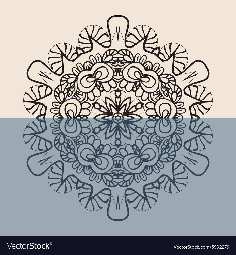 Outline Mandala Background for greeting card vector image
