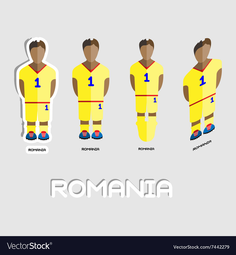 089c7e1d582 Romania Soccer Team Sportswear Template Royalty Free Vector
