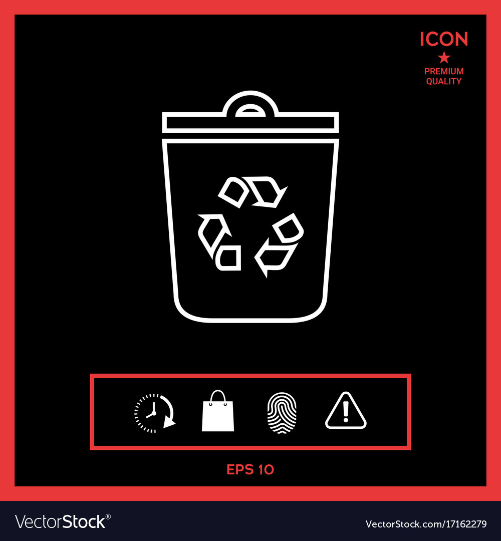 Trash can recycle bin symbol icon