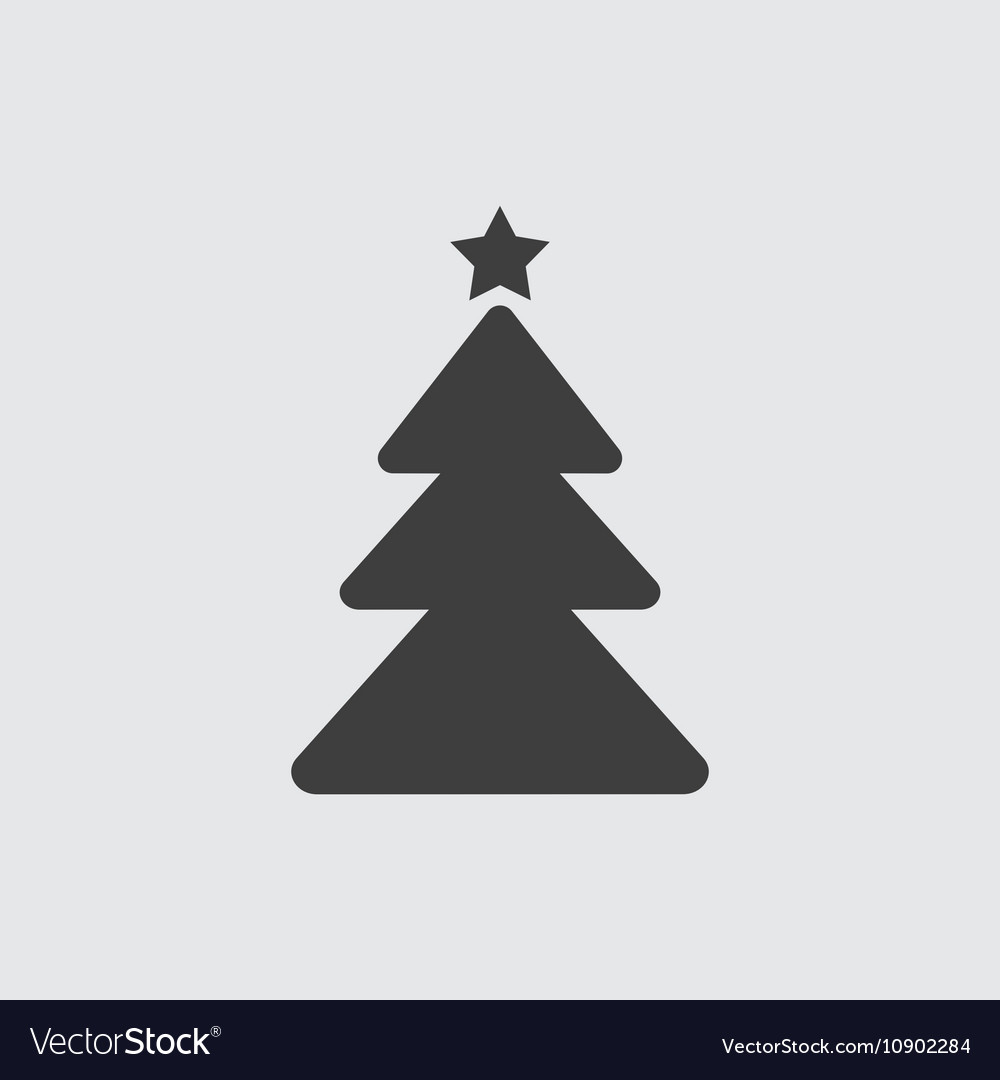 Christmas Tree Facebook Icon: Christmas Tree Icon Royalty Free Vector Image