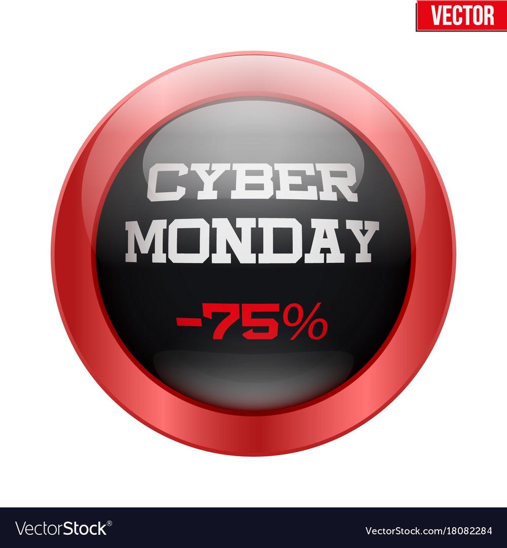 Cyber monday glass button