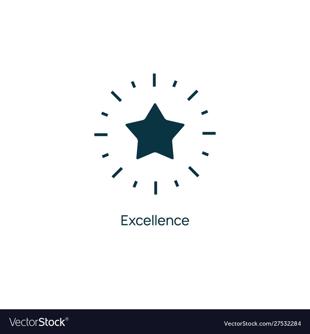 Excellence star premium line icon