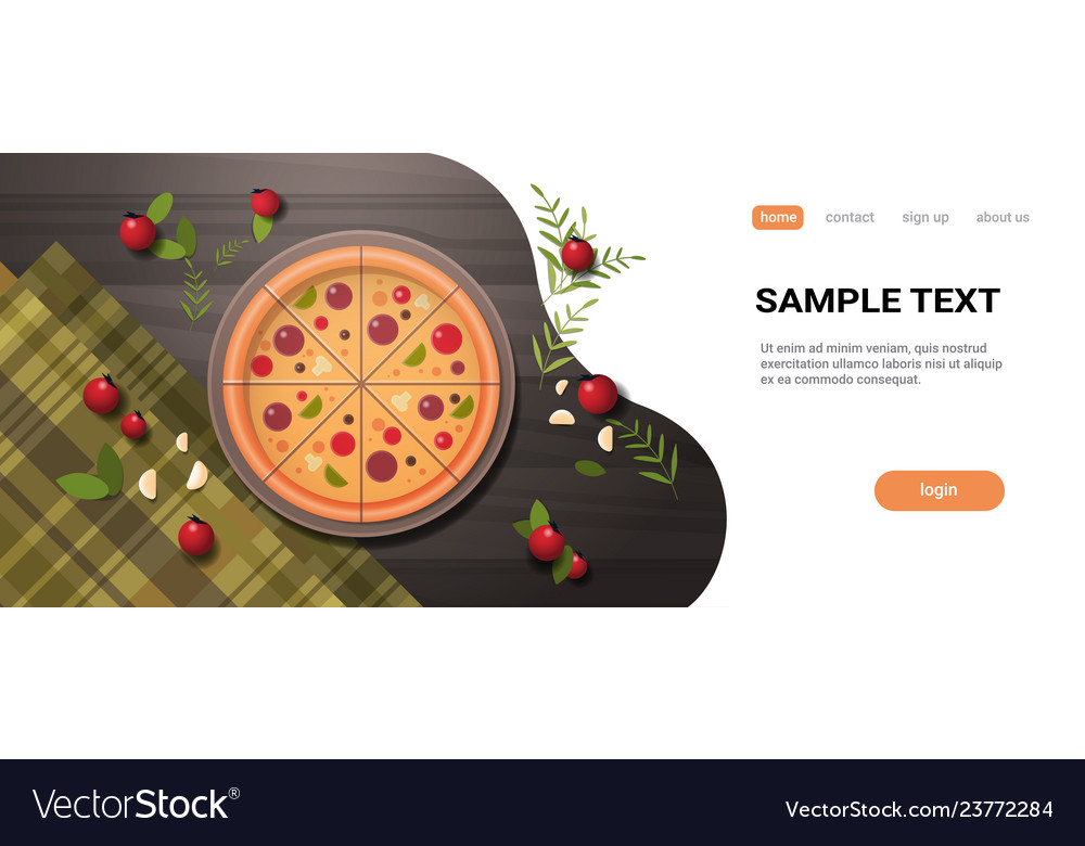 Fresh pizza surrounded by vegetables restaurant