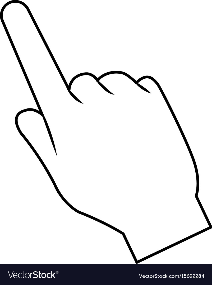 Hand pointing finger cursor icon