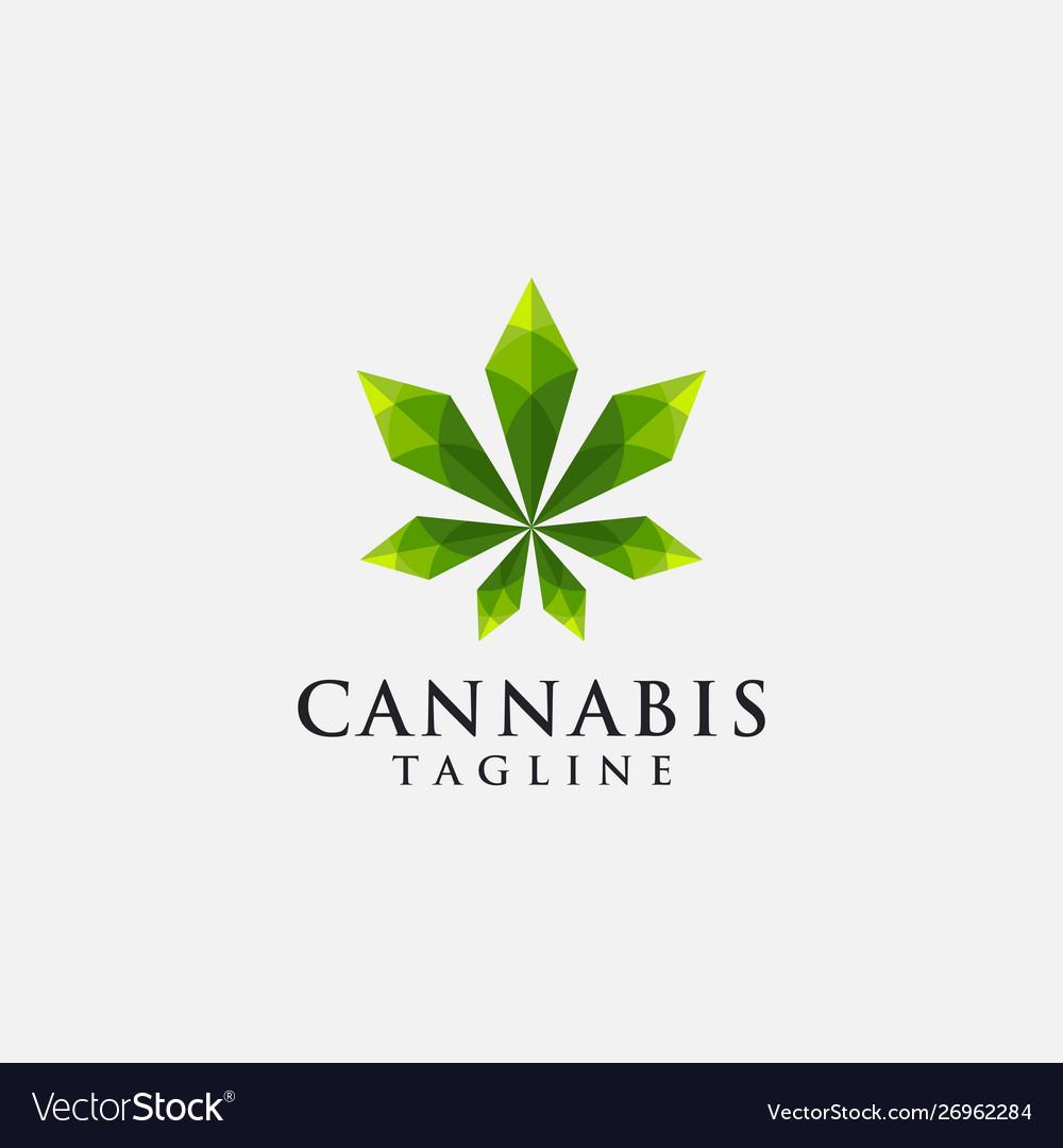 Modern geometric logo hemp cannabis marijuana